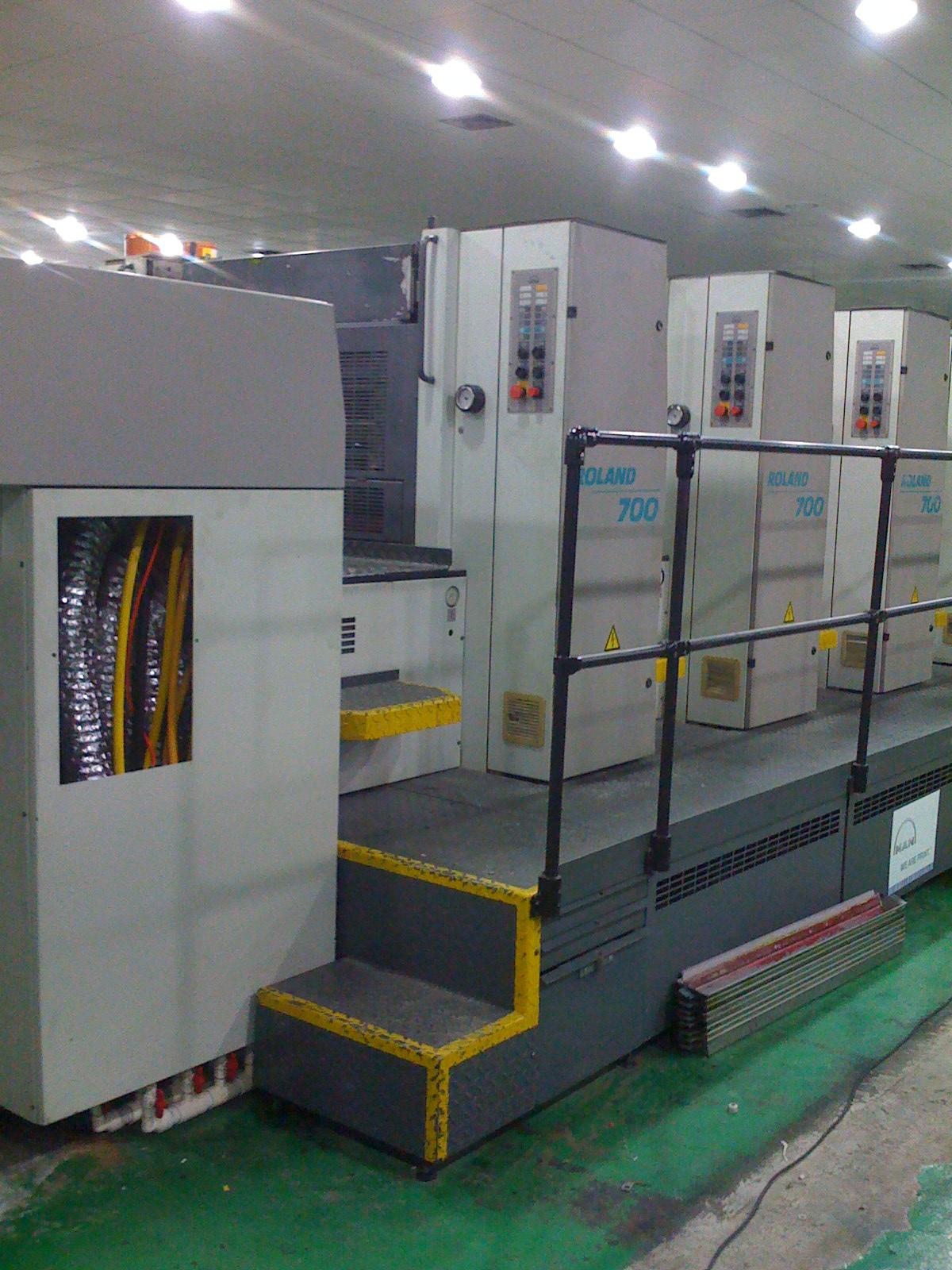 曼罗兰700胶印机加装UV1