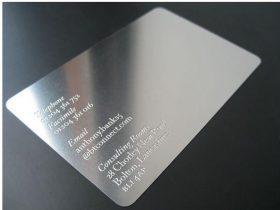 银色名片印刷